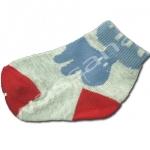 ถุงเท้า สีเทา-น้ำเงิน-แดง ลายกวางตาสีขาว 9CM