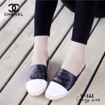 รองเท้าผ้าใบ ทรง slip on เปิดส้น แบบหนัง ไสตล์ Chanel ที่ขายดี และฮอต ตลอดกาล สวมใส่ง่ายขึ้น งานดี สวยเท่ห์แมทได้หลายสไตล์ สีดำ ขาว