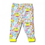 กางเกง สีขาว-เหลือง ลาย Spongebob กับแว่นตา 4T