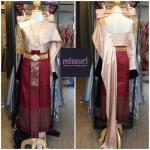 ชุดไทย ชุดไทยเพื่อนเจ้าสาว ชุดไทยออกงาน ชุดไทยประยุกต์ ผ้าไหม สไบเฉียง ผ้าถุงสำเร็จลายไทย