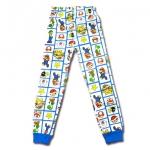 กางเกง สีขาว ลาย Mario & Yossi 6T