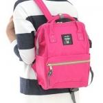 กระเป๋าเป้ Anello canvas shocking pink (Mini)