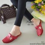 รองเท้าคัทชู ส้้นแบบ ลำลอง เปิดส้น วัสดุหนังพียูฉลุลายลายปักแบบเดินเส้น สวยคลาสสิค สายคาดแบบเมจิกเทป ปรับสายได้ พื้นรองเท้าเป็นแบบ Slip on กันลื่นอย่างดี งานสวย น่ารัก เกร๋ เบาสบาย ใส่ได้ทุกวัย สูง 2 เซน สีขาว แดง ดำ