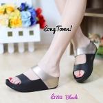 รองเท้าแตะเพื่อสุขภาพ สไตล์ลำลอง แบบสวม วัสดุหนังพียู คาดหน้าสองตอน พื้นคอมฟอต นุ่มสบาย (L1732)