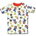 เสื้อ สีขาว-แดง ลาย Mario กับเหรียญ 8T