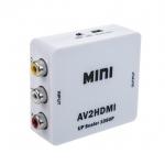 ชุดกล่องแปลงสัญญาณ AV to HDMI (Mini AV2HDMI converter)