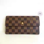 [SOLDOUT]Used - Louisvuitton Portefeuille International Damier Ebene dc04