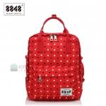 8848 Back pack(กระเป๋าเป้ สะพายหลัง) BA043 สีแดง จุด พร้อมส่ง