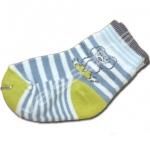 ถุงเท้า สีขาว-น้ำเงิน-เขียว ลายเสือ 9CM
