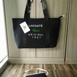 """กระเป๋าแฟชั่น ทรง shopping สไตล์ Lacoste งานสวย จุเยอะ ส.10"""" ก.12"""" พร้อมกระเป๋าเล็กเข้าชุด"""