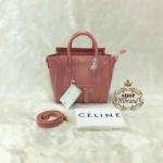 กระเป๋า Celine Luggage Tote mini 8 นิ้ว สวยหรู ปากกระเป๋าซิป พร้อมสายยาวถอดได้ การ์ดและถุงผ้า