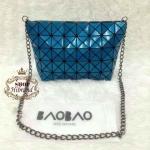 กระเป๋า Issey Miyake 10 นิ้ว สวยเก๋น่ารัก พร้อมสายโซ่ยาว ถอดได้ การ์ดและถุงผ้า