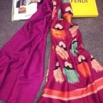 ผ้าพันคอ Fendi สวยพรีเมียม ลายตา Monster สวยเก๋ เนื้อผ้าหนานุ่ม ขนาดประมาณ 70x180 cm. พันคอ คลุมไหล่สวยไฮโซ ได้ทุกโอกาส