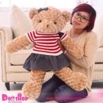ตุ๊กตาหมีขนกุหลาบ ผู้หญิง 1.0 เมตร
