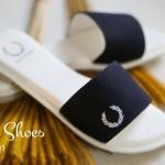 รองเท้าแตะสวม Fred perry สวยเรียบเก๋ตามสไตล์ งานปักและปั้มแบรนด์ ตามรูป ใส่สบายได้ทุกวัน สีดำ น้ำเงิน ครีม ส้ม ขาว