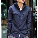 พรีออเดอร์ เสื้อแจ๊คเก็ตพร้อมฮู้ด แฟชั่นอเมริกา และยุโรปสไตล์ สำหรับผู้ชาย แขนยาว เก๋ เท่ห์ - Preorder Men American and European Hitz Style Slim Long-sleeved Jacket with Hood