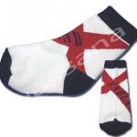ถุงเท้า สีชมพู-ดำ-แดง ลาย England 12CM