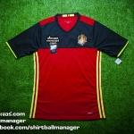 เสื้อบอลเวอร์ชั่นนักเตะ Adizero ทีมชาติเบลเยี่ยม เหย้า Belgium Home Player Issue 2016