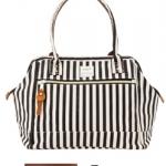 Anello Shoulder Bag กระเป๋าถือ/คล้องไหล่ (ลายทางดำ)