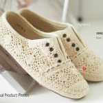 รองเท้าผ้าใบลำลอง Vintage Shoes ลูกไม้สไตล์ผ้าใบไร้เชือก สวยน่ารัก เสริมผ้าแคนวาสด้านใน มาพรอ้มกับพื้นยางกันลื่นอย่างดี สวมสบาย ใส่ง่าย ถอดง่าย แมทได้ทุกชุด