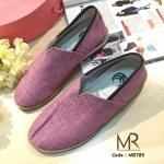 รองเท้าคัทชูผ้า สวยเก๋น่ารัก ระบายอากาศได้ดีเริศ ผ้านิ่ม พื้นก็นิ่ม ส้นทำ จากยางพาราไม่ลื่น ทรงสวย ใส่ง่าย สีสันน่ารักๆ แมทเก๋ได้ทุกชุด (MR789)