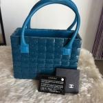 (SOLDOUT)Chanel limited ทรงกล่อง สีฟ้าน้ำทะเล