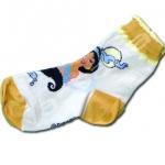 ถุงเท้า สีเหลือง-ส้ม ลาย Jasmine 18CM