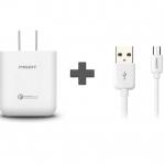 ชุด Pisen Quick Charge 2.0 พร้อมสายชาร์จ - สีขาว