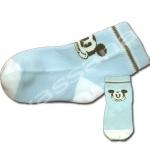 ถุงเท้า สีฟ้า-ขาว ลาย Mickey Mouse 9CM