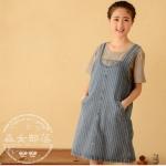 [พรีออเดอร์] ชุดเอี้ยมยีนส์แฟชั่นญี่ปุ่นเกาหลี สำหรับเด็กวัยรุ่นสวย เก๋ - [Preorder] Women Japanese-Korean Hitz Denim Skirt for Teenager