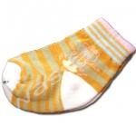ถุงเท้า สีส้ม-ชมพู-น้ำตาล ลายเสือ 8CM
