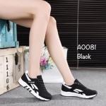 รองเท้าผ้าใบแฟชั่น สวยเท่ห์ งานผ้าพื้นยางขอบยางอย่างดี ดีไซน์ทันสมัย กระชับเท้า ใส่ออกกำลังกาย เข้าฟิตเนส หรือใส่เที่ยวก็ได้ สีดำ เทา ขาว
