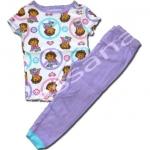ชุดนอน สีขาว-ม่วง ลาย Dora 4T