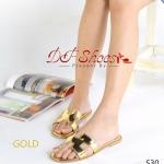 รองเท้าแตะ โทนสีเมทัลลิคหนังเงา Style HERMES ไฮโซมาก งานเดิน คิ้วอย่างดี สวยทุกสี พื้นบุนิ่ม เดินสบาย งานดี ไม่บาดเท้า ใส่แมท ดูดีทุกชุด