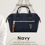 Mini Anello Boston shoulder Bag (สี Navy)
