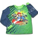 เสื้อแขนยาว สีเขียว-น้ำเงิน ลาย Mario 8T