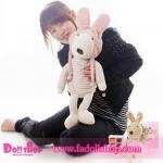 ตุ๊กตากระต่ายสีขาว ใส่หมวก 60 ซม