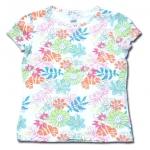เสื้อ สีขาว ลายดอกไม้ ยี่ห้อ Rena Rowan 6T
