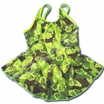 ชุดว่ายน้ำ สีเขียว ลายผีเสื้อ 4T