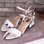 รองเท้าแฟชั่น ZARA style ทรงสวย รัดส้น Classic สวยดูดี หนังลายหินอ่อน ใส่แมทได้ง่าย ไม่มี Out !! หนังนิ่มอย่างดี ใส่สบาย สายรัดปรับกระชับเท้าได้ แมทเก๋ได้ทุกชุด สีดำ ขาว สูง 1 นิ้ว