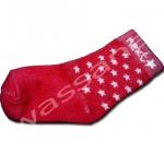 ถุงเท้า สีแดง ลายดาว 12CM