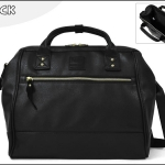 Large twoway Anello leather Shoulder Bag (สี Black)