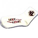 ถุงเท้า สีขาว ลาย Next Level 17CM