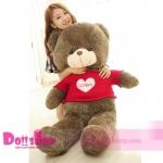 ตุ๊กตาหมีใส่เสื้อ I LOVE YOU 1.6 เมตร