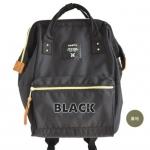 กระเป๋าเป้ Anello canvas black (Mini)