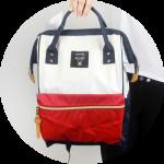 กระเป๋าเป้ Anello Tricolor สี France (Standard) สีสุดฮิต!! ผ้าโพลีเอสเตอร์แคนวา่ส กันน้ำ