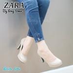รองเท้าคัทชู ส้นสูง หนังเรียบ ทรงสวยดูดีมีสไตล์ ใส่ทำงาน ใส่ออก งานได้ ทุกโอกาส สูง 3 นิ้ว สีดำ น้ำตาล ครีม เทา