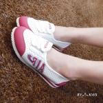 รองเท้าผ้าใบดีไซน์น่ารัก AIR SOFT SHOE สไตล์เกาหลี หนังพียูเนื้อนิ่ม ใส่สบาย กระชับเท้า ระบายอากาศได้ดี งานคุณภาพ แมทเก๋ได้ทุกชุด