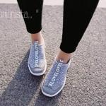 """รองเท้าผ้าใบ SPORT FUSION SNEAKERS แนวฟิวชั่น สไตล์ลำลอง ทรงสวม วัสดุผ้าทอเนื้อหนาฟูนุ่มเดินขอบยางยืด พื้น 1"""" เนื้อยางกันลื่น ยืดหยุ่นดีเยี่ยมโค้งงอตามรูปเท้า หัวรองเท้าแต่งหนัง pu สีสันสไตล์ทูโทน ใส่สบายมาก กระชับคล่องตัว ดีไซน์สวยคุณภาพดี"""