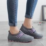 รองเท้าผ้าใบ เพื่อสุขภาพ ดีไซน์เก๋เท่ห์ ใส่ง่าย ถอดง่าย ไม่ต้องนั่งผูกเชือก พื้นยางอย่างดี น้ำหนักเบา สีสุภาพใส่นิ่มมาก เดินนุ่มสบาย งานจริงสวยมาก สีดำ น้ำเงิน เทา